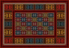 Ornement géométrique ethnique de tapis de vintage de Motley Photographie stock libre de droits