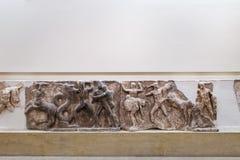 Ornement grec dans le musée archéologique, Delphes Image stock