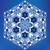 Ornement hexagonal arabe géométrique de tuile de mosaïque illustration de vecteur