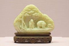 Ornement impérial de jade de porcelaine image stock