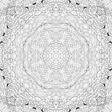 Ornement incurvé par mehndi de filigrane Motif ethnique, texture harmonieuse binaire monochrome de griffonnage Rebecca 36 Vecteur Photos stock