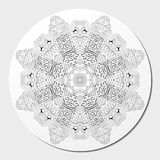 Ornement incurvé par mehndi de filigrane Motif ethnique, texture harmonieuse binaire monochrome de griffonnage Rebecca 36 Vecteur Image stock