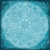 Ornement indien bleu Photo libre de droits