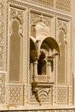 Ornement indien sur le mur du palais dans le fort de Jaisalmer, Inde Photo stock