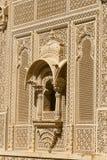 Ornement indien sur le mur du palais dans le fort de Jaisalmer, Inde Photo libre de droits