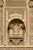Ornement indien sur le mur du palais dans le fort de Jaisalmer, Inde Images stock