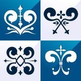 Ornement médiéval d'emblème Images libres de droits