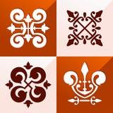 Ornement médiéval d'emblème Photographie stock
