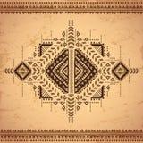 Ornement mexicain de vecteur tribal et africain ethnique Image stock