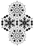 Ornement national d'Ouzbékistan avec la fleur de coton illustration de vecteur