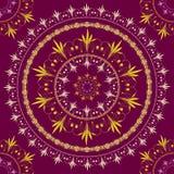 Ornement national floral circulaire sans couture de vecteur Images stock