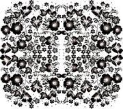 Ornement noir et gris de fleur Photos stock