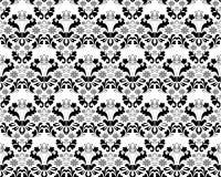 Ornement noir et gris sans joint abstrait Illustration de Vecteur