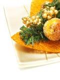 ornement orange gentil de fruit glacé de Noël Images stock