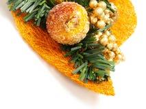 ornement orange gentil de fruit glacé de Noël Photos stock