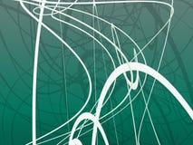 Ornement organique vert illustration libre de droits