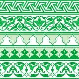 Ornement oriental arabe Bande décorative sans couture Motif floral de modèle illustration de vecteur