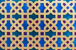 Ornement oriental traditionnel sur un fond bleu photos libres de droits