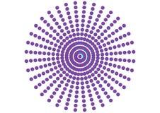 Ornement pointillé par cercle Photos stock