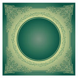 Ornement radial de cru avec le fond Images stock