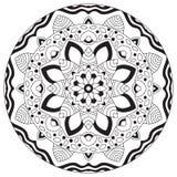 Ornement rond géométrique de mandala, Images stock