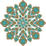 Ornement rond géométrique de mandala Illustration Stock