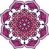 Ornement rond géométrique de mandala, modèle abstrait circulaire Élément décoratif tiré par la main de conception de vecteur Illustration Stock