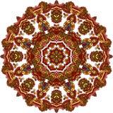 Ornement rond géométrique de mandala, modèle abstrait circulaire Élément décoratif tiré par la main de conception de vecteur Illustration de Vecteur