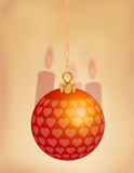 Ornement rouge 1 de Noël Images stock
