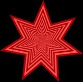 Ornement rouge d'étoile Image libre de droits