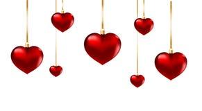 Ornement rouge de coeur d'isolement Image libre de droits