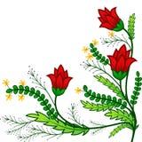 Ornement rouge de fleur Photographie stock libre de droits