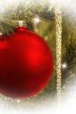 Ornement rouge de Noël Image stock
