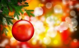 Ornement rouge de Noël Photos libres de droits