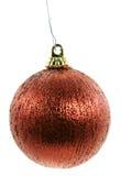 Ornement rouge de Noël d'amorçage de cru Photos libres de droits