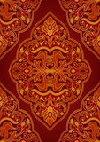 Ornement rouge oriental illustration stock