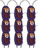 Ornement sans couture avec une photo d'un insecte dans un costume Ornement provocateur moderne illustration stock