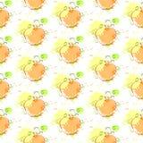 Ornement sans couture d'Autumn Harvest Concept Season Fall de fond de modèle de potiron Images libres de droits
