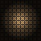 Ornement sans couture de damassé Modèle d'or classique traditionnel de vecteur fin avec la couche de gradient illustration stock