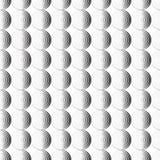 Ornement sans couture de fond de modèle des cercles concentriques rayés Rétro mosaïque des voûtes en noir et blanc Vecteur Image stock