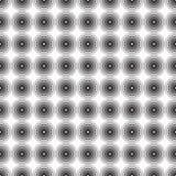 Ornement sans couture de fond de modèle des cercles concentriques rayés Rétro mosaïque des voûtes en noir et blanc Vecteur Photographie stock