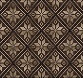Ornement sans couture de tricotage de brun de chandail de modèle Photo stock
