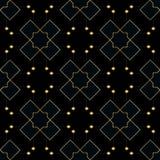 Ornement sans couture de vecteur dans le style Arabe Modèle pour des papiers peints et des milieux Modèle noir et d'or illustration libre de droits