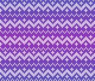 Ornement scandinave tricoté par pourpre sans couture Photos libres de droits