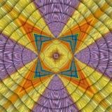 Ornement symétrique d'arc-en-ciel illustration de vecteur