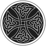 Ornement traditionnel de croix celtique de vecteur Photographie stock libre de droits