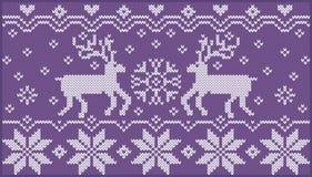 Ornement tricoté avec des deers Illustration Libre de Droits