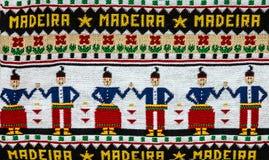 Ornement tricoté traditionnel de la Madère, Portugal image libre de droits