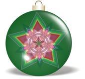 Ornement vert rouge de Noël d'étoile Image stock