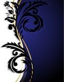 ornement vertical Blanc-bleu illustration libre de droits